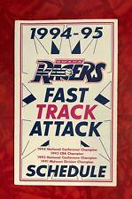 1994 - 1995 OMAHA RACERS CBA FOLDOUT POCKET SCHEDULE