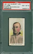 1911 M116 Sporting Life Baseball Ty Cobb PSA 8 TIGERS HOF NM-MT POP 4