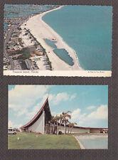 Vintage Postcard Lot FL-TREASURE ISLAND Air View, Lutheran Church Holy Comforter