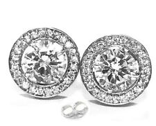 6.28.ct D-h.Color vvs1 WHITE ENGAGEMENT GORGEOUS .925 Sterling SILVER EARRINGS
