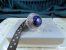 SILPADA R3270 ~ Peruvian Ring ~ Lapis and Sterling Silver ~ Size 9