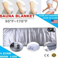 3 Zones Slimming Sauna Blanket SPA Weight Loss Far-Infrared Detox Machine USA