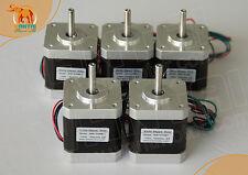 5 PCS CNC Nema17, 1.7A, 4200g.cm,0.9°,42BYGHM809 Wantai Stepper Motor 3d printer