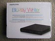 Brand New Memorex External 6x Slim Portable USB 2.0 Multi-Format Blu-Ray Writer