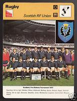 SCOTTISH RUGBY FOOTBALL UNION Scotland 1977 Team Photo 1978 SPORTSCASTER CARD