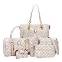6pcs Women Shoulder Bag PU Leather Tote Handbag Crossbody Bag Sets Purse Wallet