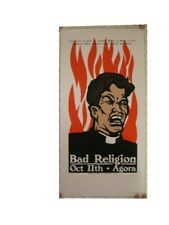Bad Religion Silkscreen Poster Fire Reverend Agora