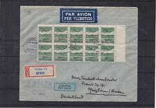 1930 Flugpost Mehrfachfrankatur Tschechoslowakei Reco Pforzheim in Deutschland