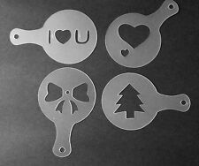 4 pcs Cookie Stencil Stencils Cake Decorating Baking Tools Supplies Cappuccino B
