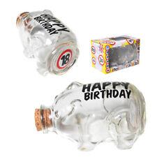Flaschenpost Sparschwein zum 18 Geburtstag - ausgefallen mit Text