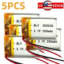 5pcs 502030 3.7V 250mAh LIPO Rechargeable Battery Lithium Polymer
