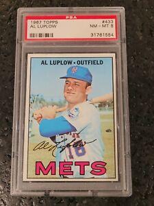 1967 Topps Al Luplow #433 Mets PSA 8 NM-MT