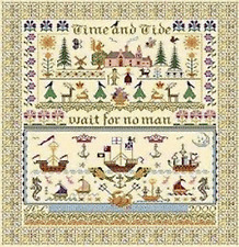 10% Off Long Dog Samplers Counted X-stitch chart - Time & Tide