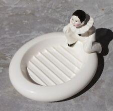 Porte savon Pierrot en céramique vintage