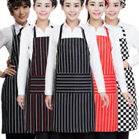 Chef Apron Kitchen Cooking Bib Apron Dress W/Pocket Restaurant Pinafore Workwear