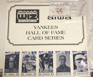 1992 NY Yankees HOF Card Series Stadium Giveaway W/Game Ticket 8/23/1992-NIB!