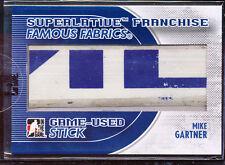2009-10 ITG SUPERLATIVE FRANCHISE FAMOUS FABRICS MIKE GARTNER GAME USED STICK /9