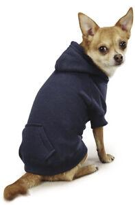 Casual Canine ZA6015 16 57 Casual Canine Basic Hoodie, Navy Blue, Sz Medium