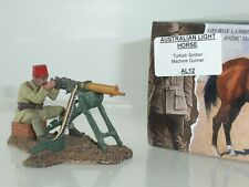 KING AND COUNTRY AL012 AUSTRALIAN LIGHT HORSE TURKISH MACHINE GUNNER WITH FEZ