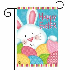 """Bunny and Eggs Easter Garden Flag Holiday Decorated Eggs 12.5"""" x 18"""""""