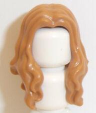 Lego Hair Long Wavy with Center Part x 1 Medium Dark Flesh for Minifigure