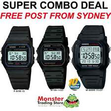 COMBO DEAL FREE POST FROM SYDNEY CASIO RETRO F-91W-1, W-59-1, W-800-1