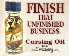 CURSING OIL, Revenge Santeria Dark Arts, Hoodoo, Black Magic, Conjure, Voodoo
