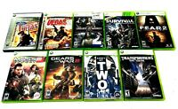 Microsoft Xbox 360 Lot of 9 First Person Shooter Games FPS