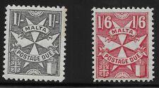Malta Scott #J30-31, Singles 1968 FVF MH