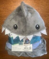 """NWT Your Zone Boys Soft Touch """"Shark"""" Hooded Throw Blanket 40"""" X 50"""" BRAND NEW"""