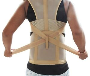 Unisex Back Posture Correction Shoulder Corrector Support Brace Belt Therapy USA