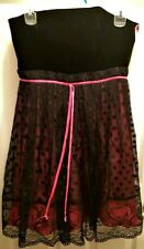 Betsey Johnson Black/Pink Strapless Dress - Size 6 - in Excellent Condition
