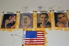 "Obama President USA Mini Flag 4""x6"" Window Banner w/ suction cup Wholesale Set"
