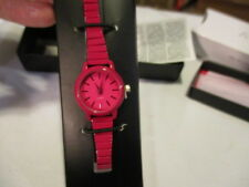 AVON Full of Color Expansion Watch Slim, Colorful Fuchsia Stretch Band  One Size