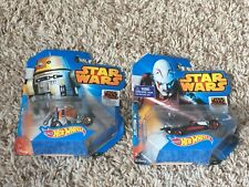 Star Wars HOT WHEELS CARS CHOPPER & THE INQUISTOR LOT OF 2 NEW SEALED RARE!