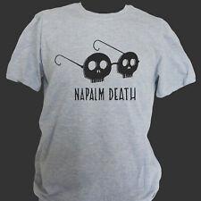 NAPALM DEATH GRIND METAL ROCK T-SHIRT grey unisex S-3XL