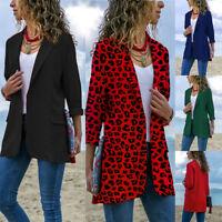 Women Blazer Open Front Coat Ladies OL Office Suit Cardigan Jacket Slim Outwear