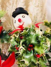 vintage plastic christmas picks decorations holly poinsettia pine cones - Vintage Plastic Christmas Decorations