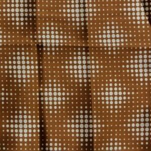Caramel Beige Dots SATIN Ascot Cravat Pocket Square Combo Silk Blend