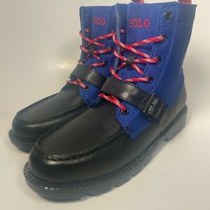 Brand New POLO RALPH LAUREN Kids Ranger Hi II Boots Junior Leather 6 6.0
