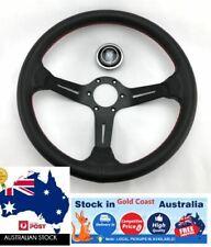 350mm Dish Steering Wheel - Fit 6 hole Hub Like Vertex Nardi Momo Sparco NRG