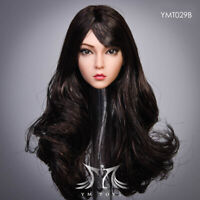YMTOYS YMT029B 1/6 Female New Wheat Head Carving Sculpted Rooted Curly Hair