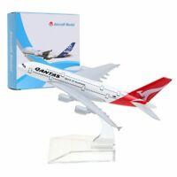 14cm A380 Qantas Plane Model Aircraft Diecast Airplane Aeroplane Desk Toy AU