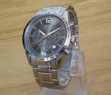 Mens S/Steel Bracelet Orange Accent Dial Seiko Lorus 50m Chrono Watch VD53