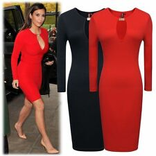 Women Vintage Rockabilly Celeb Bodycon Stretch Party Evening Pencil Dress 101a