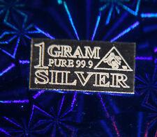 x5 (FIVE) ACB 99.9 Silver 1 Gram Bullion PURE Ag Bars 9.99 Fine. INVEST! ^