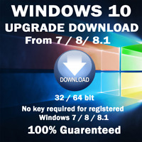 WINDOWS 10 Home or Pro Upgrade from Windows 7 & 8 and INSTALL TODAY