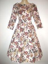 Unbranded Cotton Blend 3/4 Sleeve 50's, Rockabilly Women's Dresses