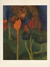 "1959 Vintage EMIL NOLDE ""THE GREAT GARDENER"" WONDERFUL COLOR Offset Lithograph"