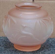 magnifique ancien grand vase en verre dépoli MULLER LALIQUE JOMA tres bon etat